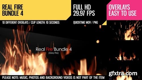 Videohive - Real Fire Bundle 4 - 6828884