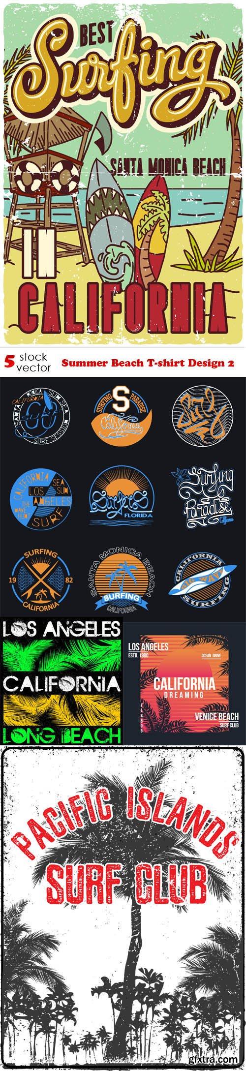 Vectors - Summer Beach T-shirt Design 2