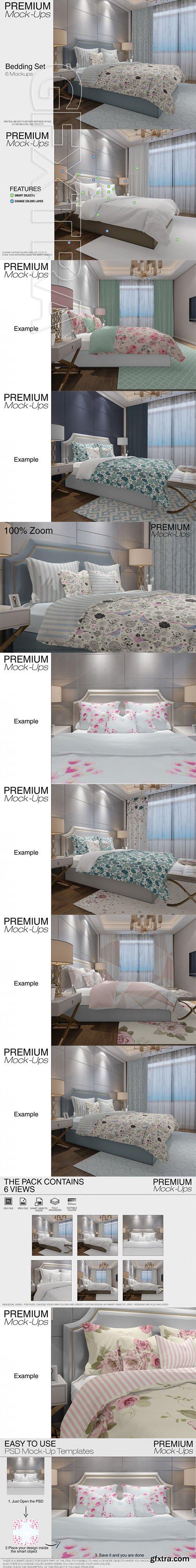 Graphicriver - Bedding Mockup Set 22101321