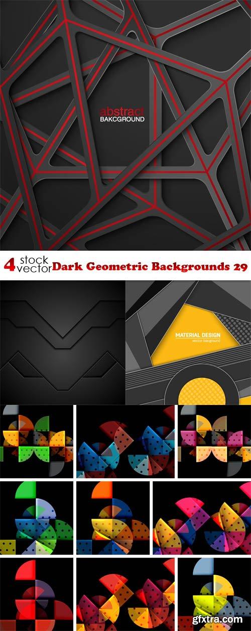 Vectors - Dark Geometric Backgrounds 29