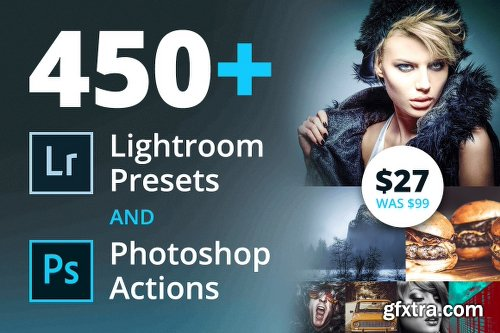 450+ Lightroom Presets and Photoshop Actions
