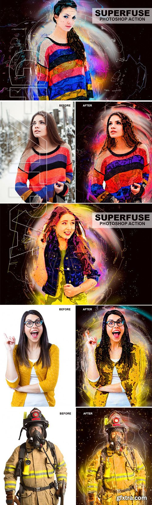 Graphicriver - Superfuse Photoshop Action 21965650