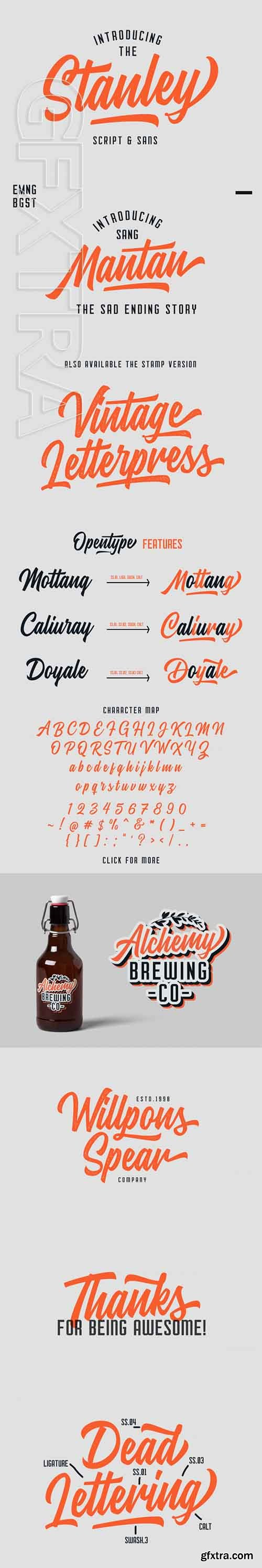 Stanley Font Duo Font Family