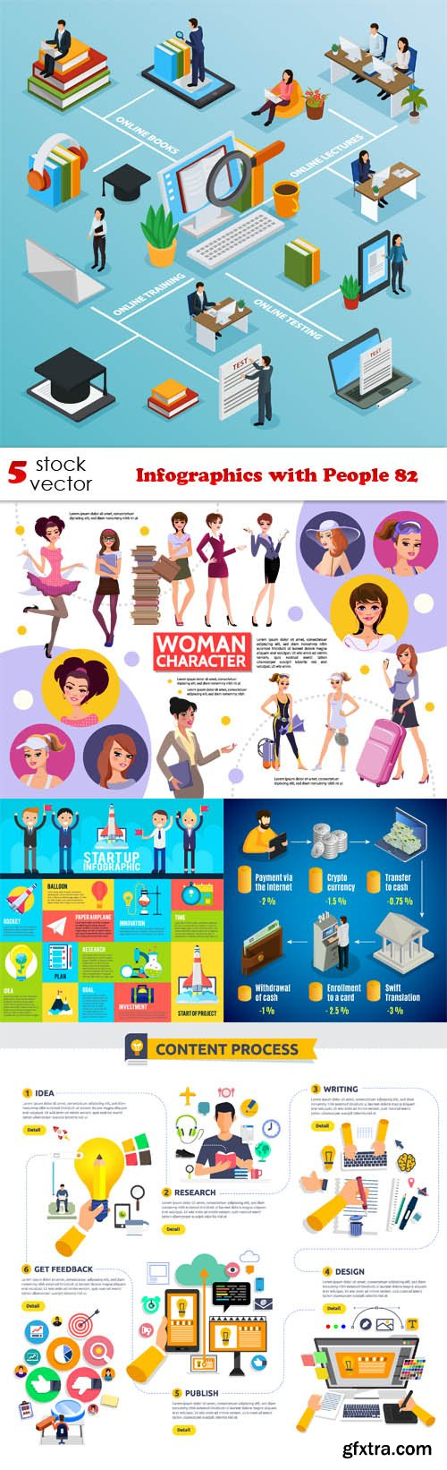 Vectors - Infographics with People 82