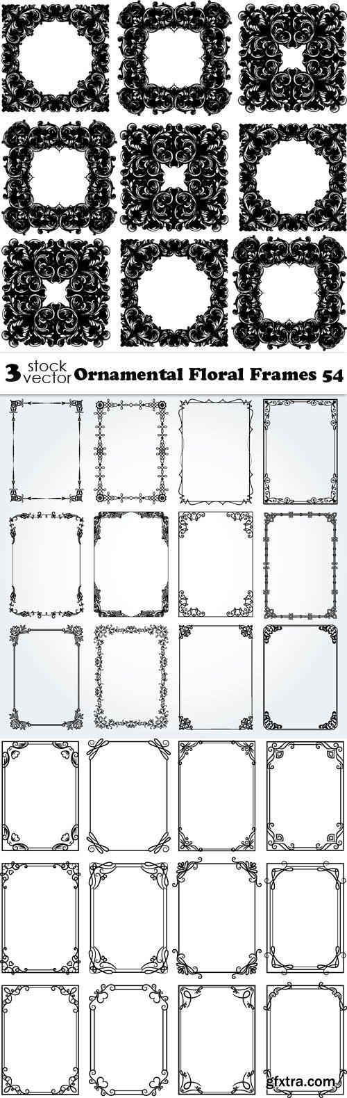 Vectors - Ornamental Floral Frames 54