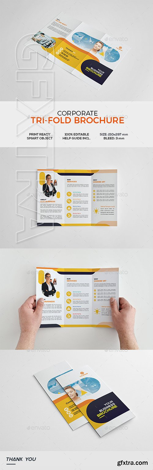 Graphicriver - Corporate Trifold Brochure 22106774