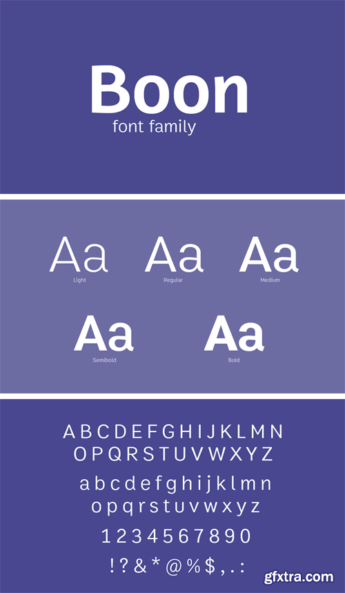 Boon Font Family