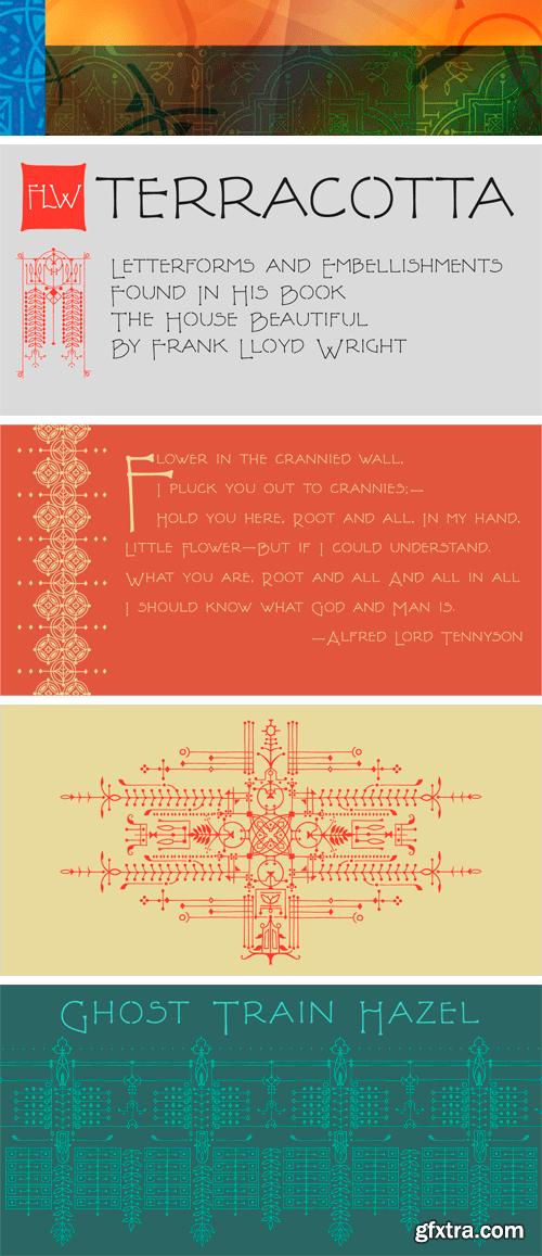 P22 FLW Terracotta Font Family
