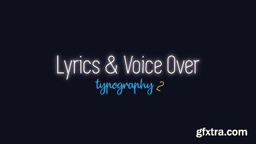 Videohive Lyrics and Voice Over Typography 2 21303987