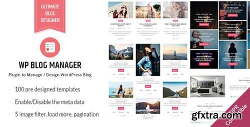 CodeCanyon - WP Blog Manager v1.1.1 - Plugin to Manage / Design WordPress Blog - 20470768