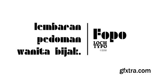 Fopo Font Family - 3 Fonts