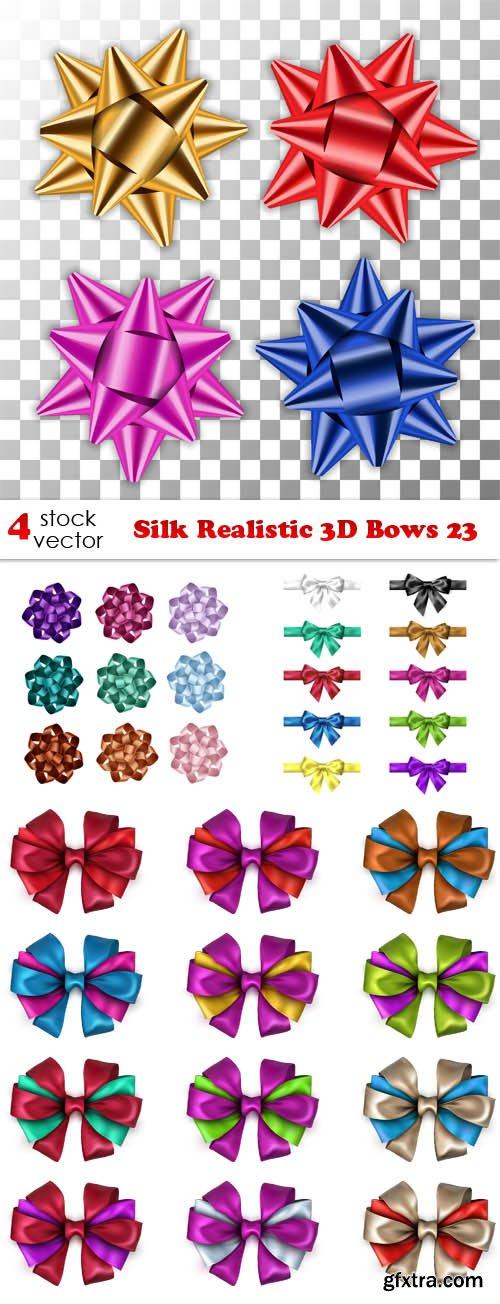 Vectors - Silk Realistic 3D Bows 23