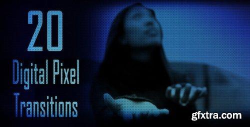 Videohive 20 Digital Pixel Transitions 4575520
