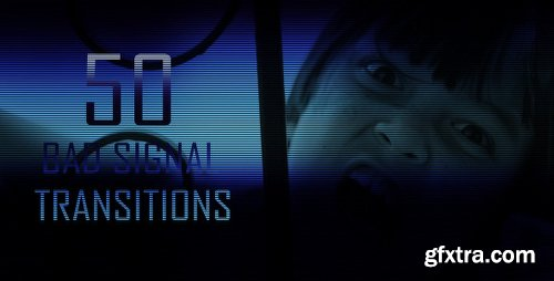 Videohive Bad Signal Transitions (50-Pack) 4617133