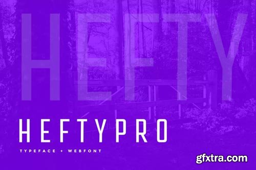 Hefty Pro Display Typeface + WebFont