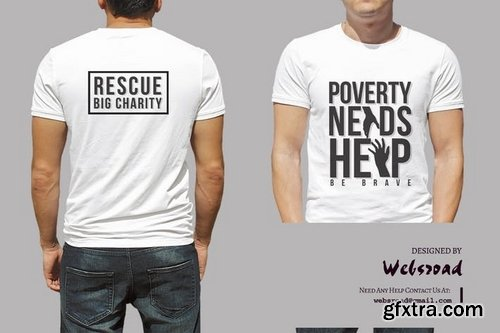 Charity  T-shirt Design Template