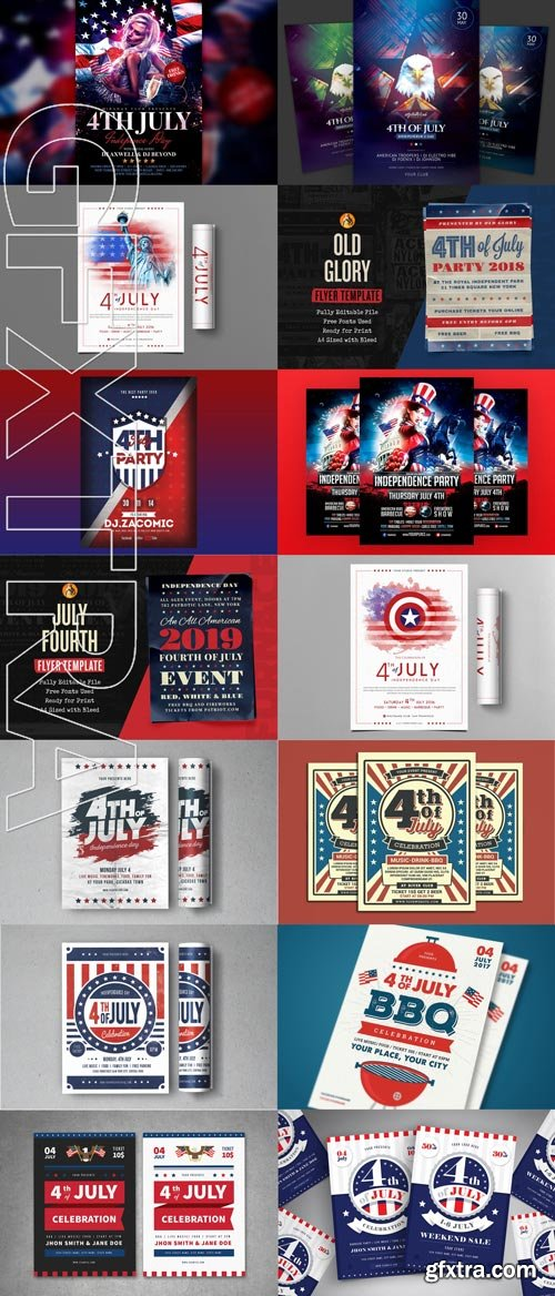 4 July ( independence Day ) Flyer Pack