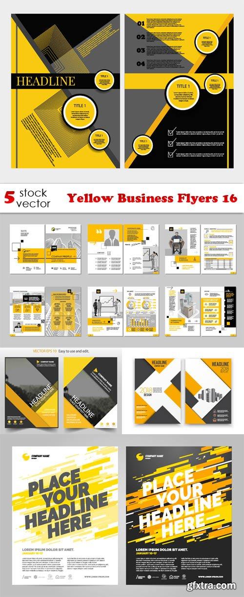 Vectors - Yellow Business Flyers 16