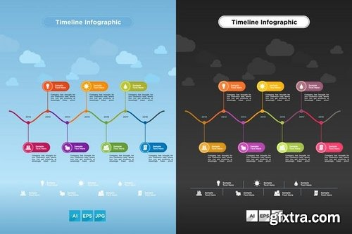 Timeline Infographics With Two Variations