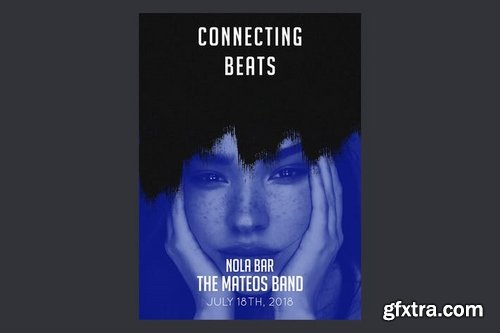 Connecting Beats Flyer Poster