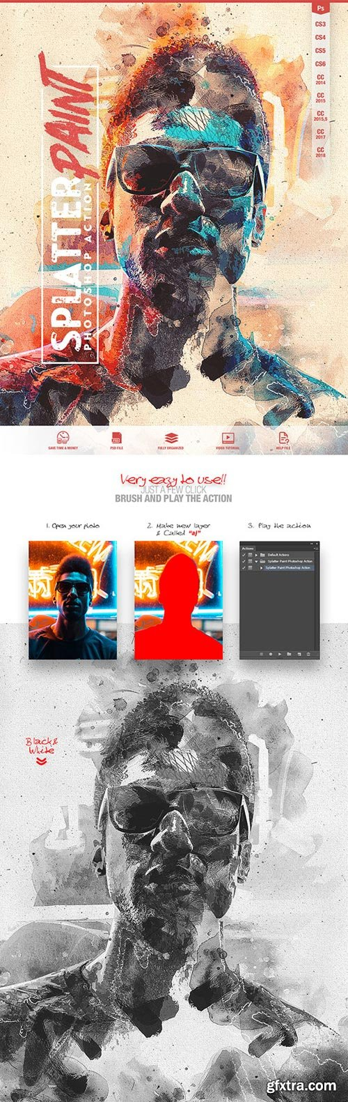 GraphicRiver - Splatter Paint Photoshop Action CS3+ - 22142198