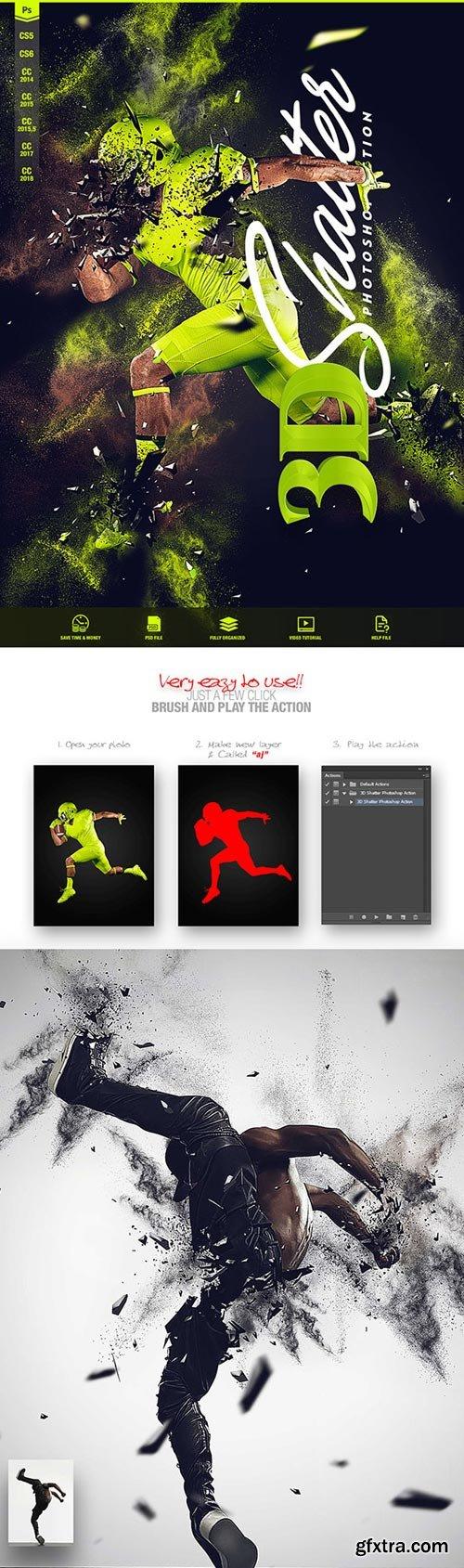 GraphicRiver - 3D Shatter Photoshop Action CS5+ - 22142167