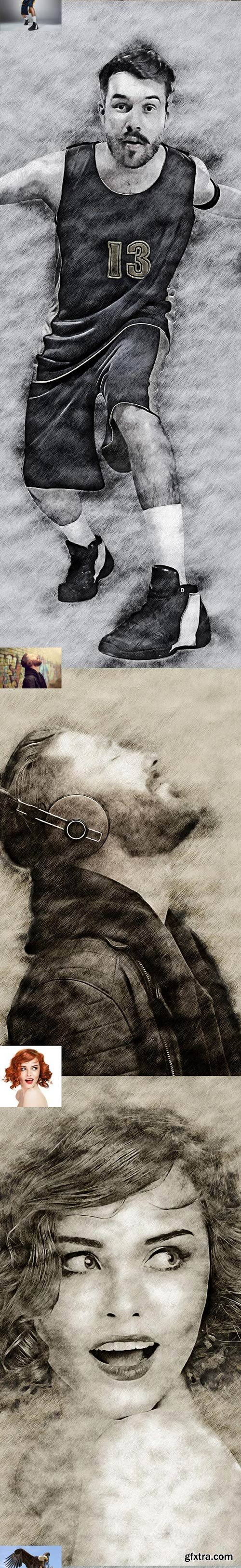 GraphicRiver - Light Sketch CS4+ Photoshop Action - 22100434