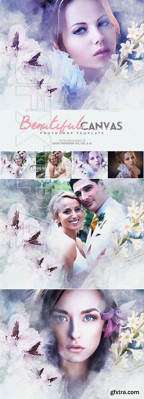 Graphicriver - Beautiful Canvas Photoshop Template 22149280