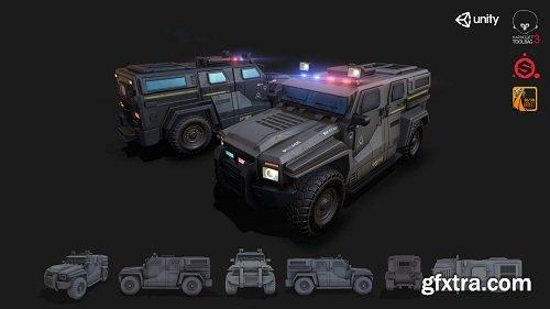 APC Military Vehicle Game Asset 3D Model