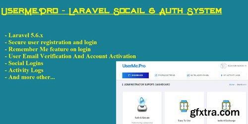 CodeSter - UserMe Pro v1.1.0 - Laravel Social Auth System - 7379