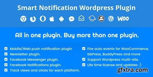 CodeCanyon - Smart Notification Wordpress Plugin v7.7.6 - Web & Mobile Push, FB Messenger, FB Notifications & Newsletter - 6548533 - NULLED