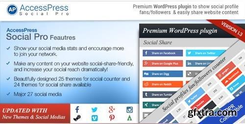 CodeCanyon - AccessPress Social Pro v1.3.6 - 10429645