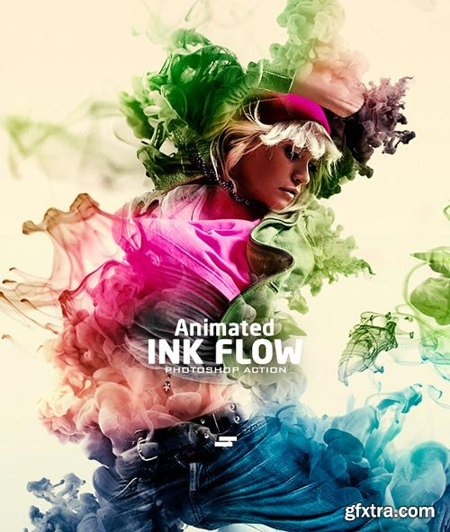 GraphicRiver - Gif Animated Ink Flow Photoshop Action - 21960670