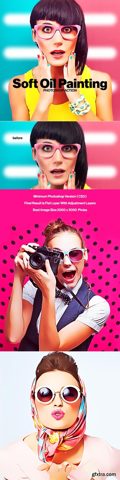 GraphicRiver - Soft Oil Painting Photoshop Action - 22052122