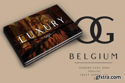 Belgium Font Family - 2 Fonts
