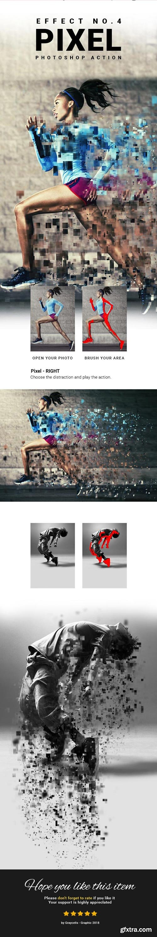 GraphicRiver - 4 in 1 Dispersion Photoshop Action - 21990130