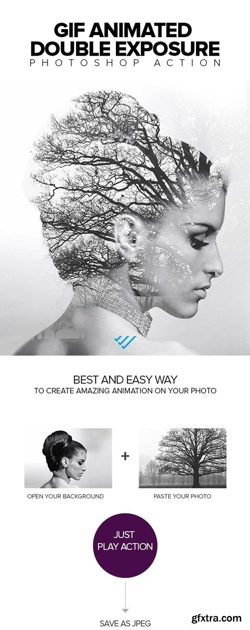 GraphicRiver - Gif Animated Double Exposure Photoshop Action - 21765091