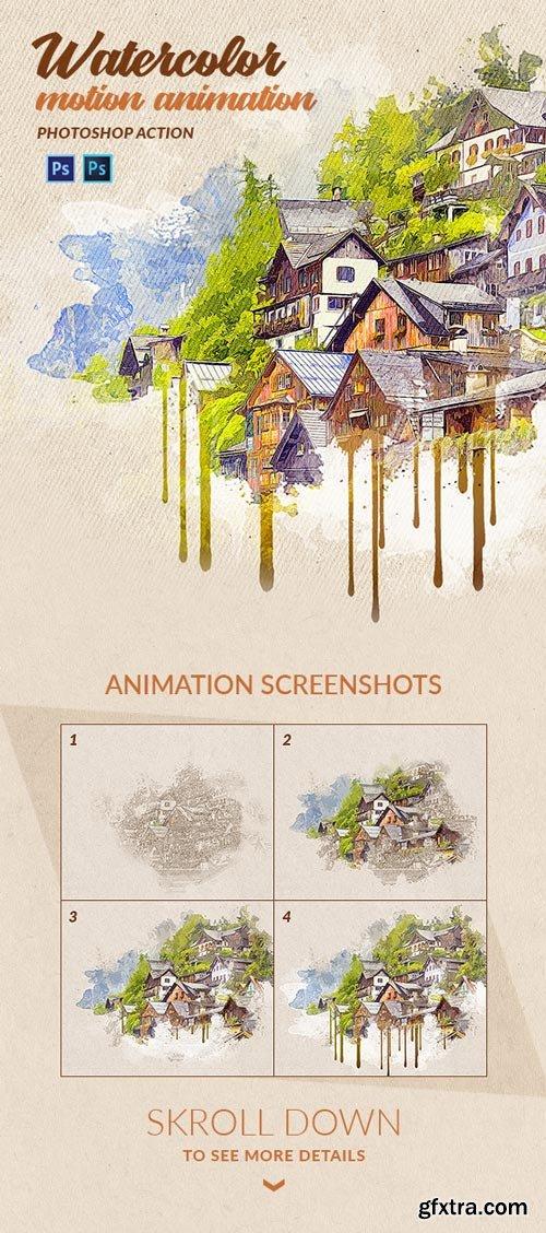 GraphicRiver - Watercolor Motion Photoshop Action - 22057505