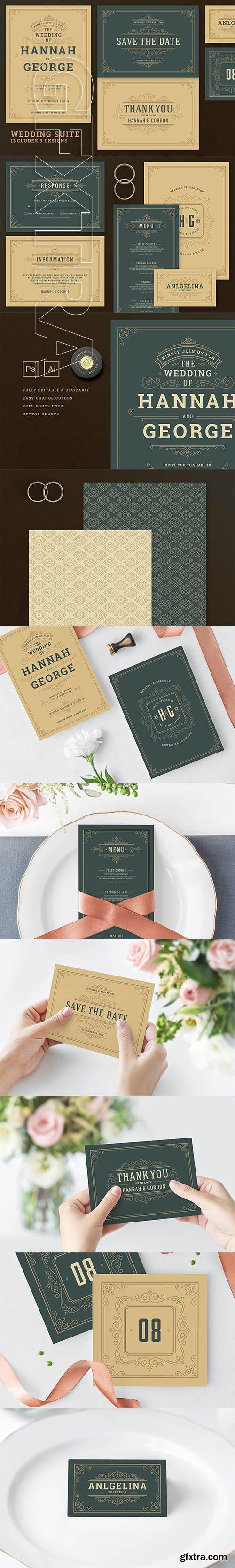 CreativeMarket - Wedding Invitation Suite 2635873