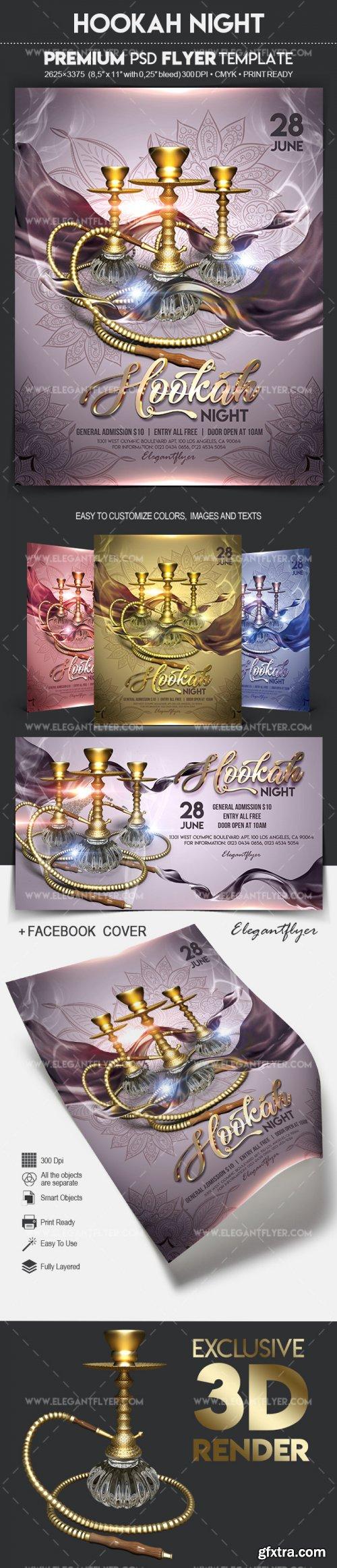 Hookah Night V6 2018 Flyer PSD Template