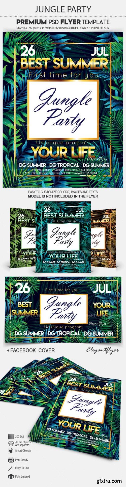 Jungle Party V7 2018 Flyer PSD Template
