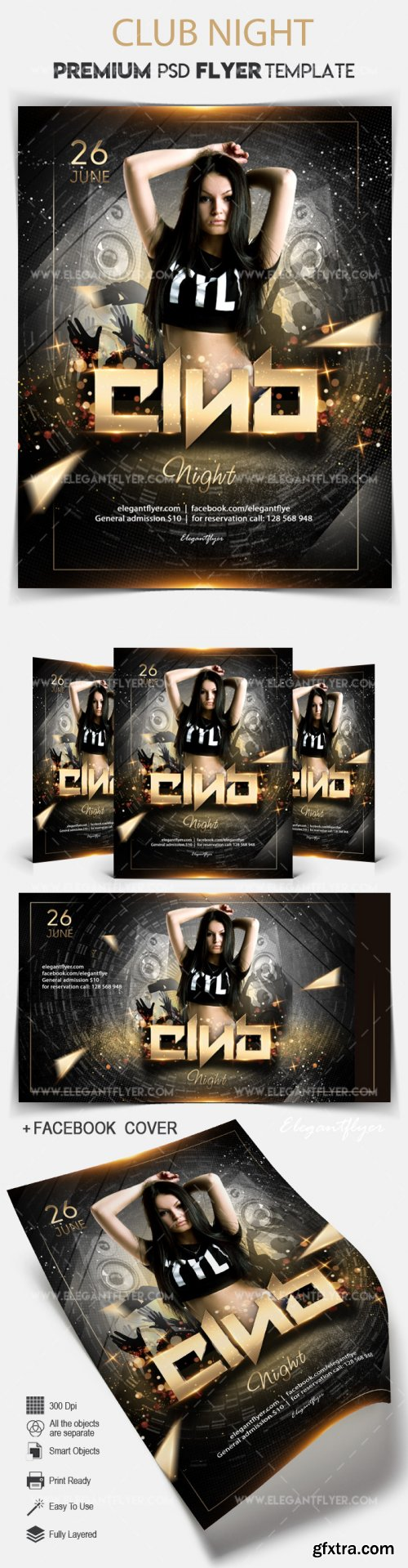 Club Night V11 2018 Flyer PSD Template