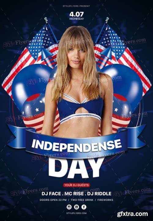 Independence Day V30 2018 PSD Flyer Template