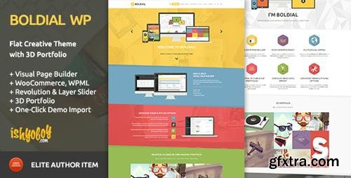 ThemeForest - Boldial WP v2.9 - Flat Creative Theme with 3D Portfolio - 7771632