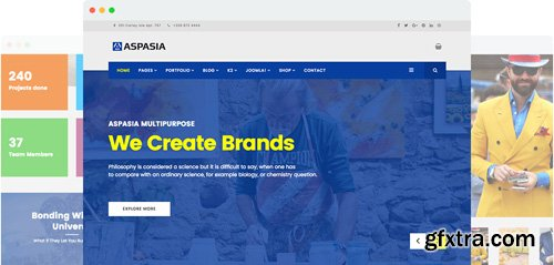 JoomShaper - Aspasia v2.0 - Responsive Joomla Template for Small Business and Portfolios Sites