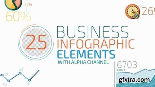 Videohive - Flat Animated Icons Business Infographics - 13410021
