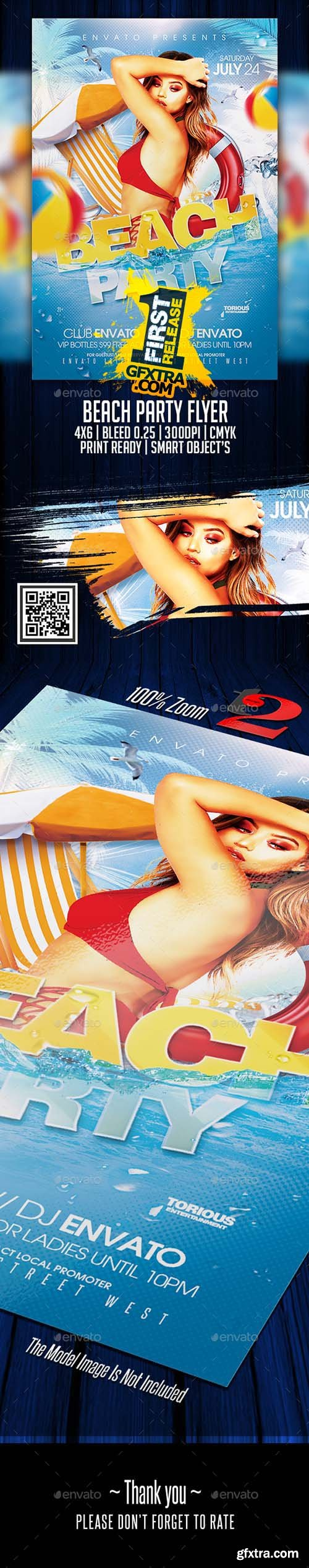 GraphicRiver - Beach Party Flyer Template 22193526