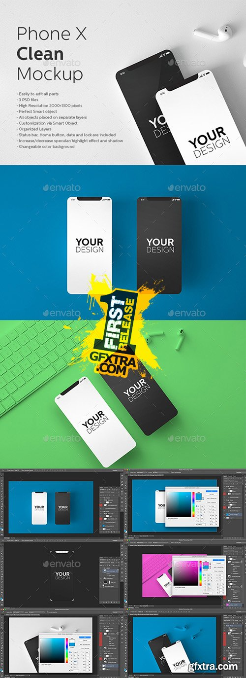 GraphicRiver - Phone X Clean Mockup 22163741