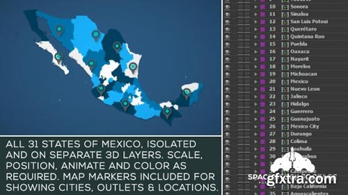 Videohive - Mexico Map Kit - 18255754