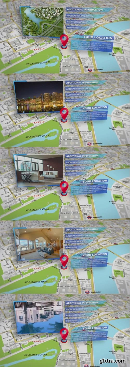 Pond5 - Infographic, Location On The Map, Photo Slideshow. Hotels And Real Estate Promo - 075917400